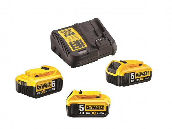 Dewalt, Akku-Kit (3 x 18 V / 5 Ah plus DCB 115)