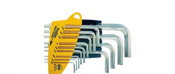 Wiha Stiftschlüssel Set im ProStar Halter Sechskant 13-tlg. glanzvernickelt Zoll-Ausführung (25610)