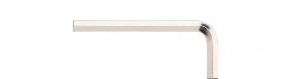 Wiha Stiftschlüssel Sechskant, Zoll-Ausführung kurz, glanzvernickelt (01194) 5/64 x 51 mm, 18 mm