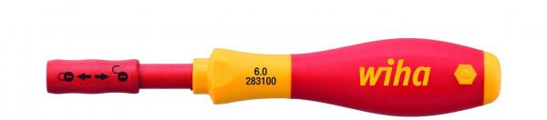 Wiha Schraubendreher mit Bithalter SoftFinish® electric slimVario für slimBits (34577) 6 mm x 50 mm